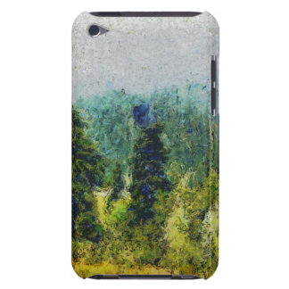 Shrubs, trees and mountains iPod touch Case-Mate case