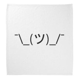 Shrug Emoticon ¯\_(ツ)_/¯ Japanese Kaomoji Bandana