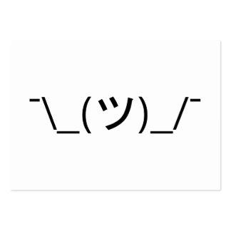 Shrug Emoticon ¯\_(ツ)_/¯ Japanese Kaomoji Pack Of Chubby Business Cards