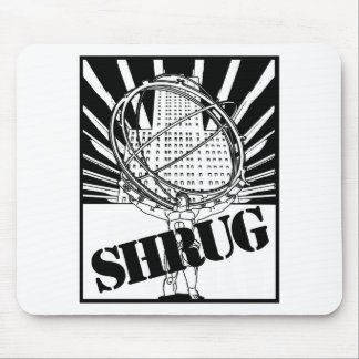 SHRUG Inspired by the Novel Atlas Shrugged Mouse Mat