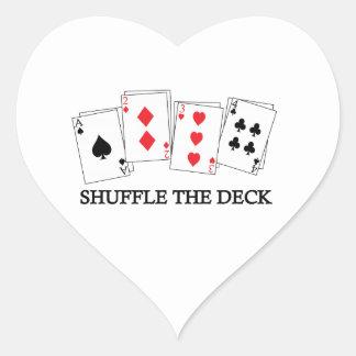 SHUFFLE THE DECK HEART STICKER