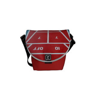 Shuffleboard on Board Red Courier Bag