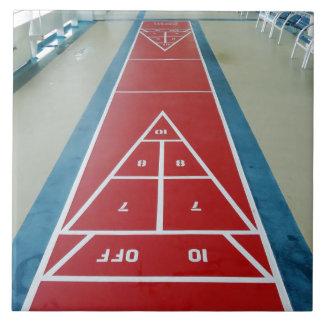 Shuffleboard on Board Large Square Tile