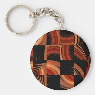 Shuffled Fractal Abstract Art Keychain