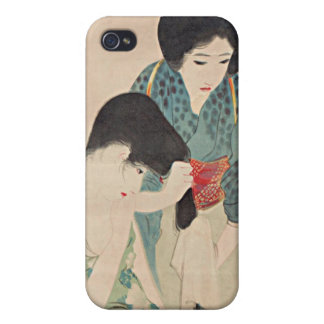 Shuho After A Bath Japanese Woodblock Print iPhone iPhone 4 Covers