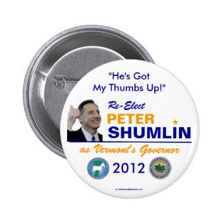 Shumlin for VT Governor 2012 button
