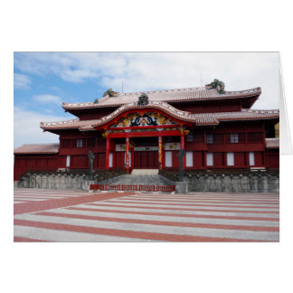 Shuri Castle in Okinawa, Japan Card