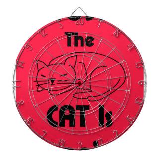 SHUSH! The Cat Is Sleeping Dartboard