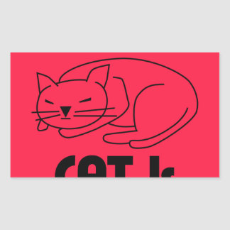 SHUSH! The Cat Is Sleeping Rectangular Sticker