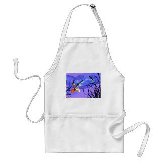 Shusui Koi in Purple Pond with Cattails Standard Apron
