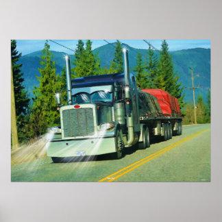 Shuswap Cargo Freight Truck Highway Driving Art Poster