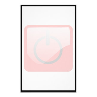 Shut Down Button Symbol Custom Stationery