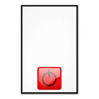 Shut Down Button Symbol Customized Stationery