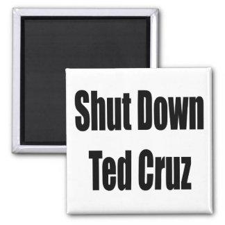 Shut Down Ted Cruz Square Magnet