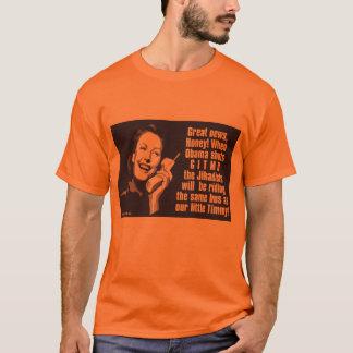 Shut Gitmo - Woman on the phone T-Shirt