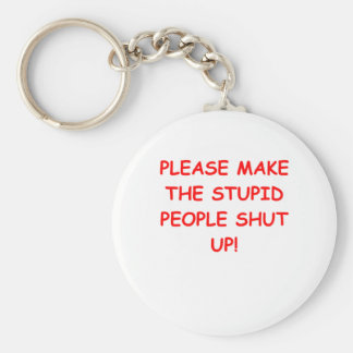 SHUT.png Basic Round Button Key Ring