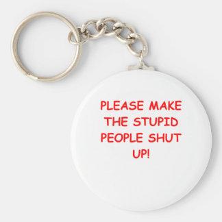 SHUT.png Basic Round Button Key Ring