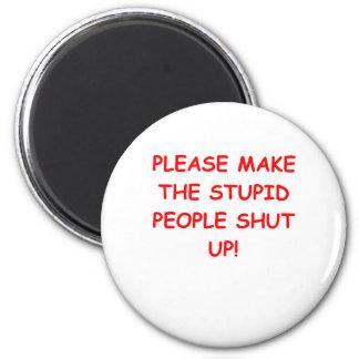 SHUT.png 6 Cm Round Magnet