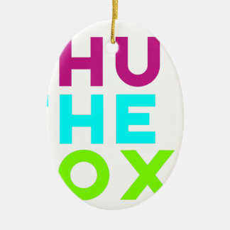 Shut The Box Logo Ceramic Oval Decoration