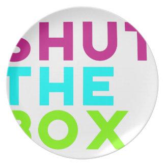 Shut The Box Logo Dinner Plates