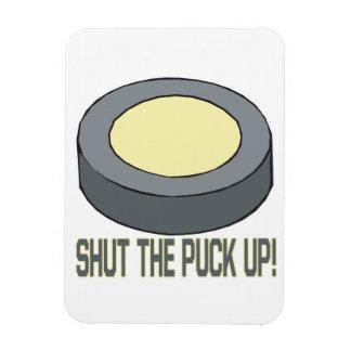 Shut The Puck Up Rectangular Photo Magnet