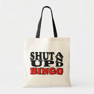 """SHUT UP AND BINGO"" BUDGET TOTE BAG"