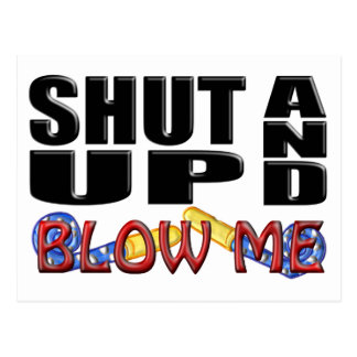 SHUT UP AND BLOW ME Party Favor Post Cards