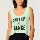 """Shut Up and Dance"" Women's Cropped Tank"