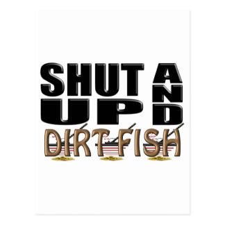 SHUT UP AND DIRT FISH (Metal Detector) Postcard