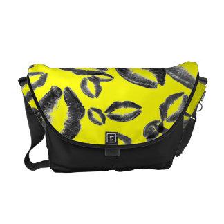 Shut-Up and Kiss Me Messenger Bag (bright yellow)