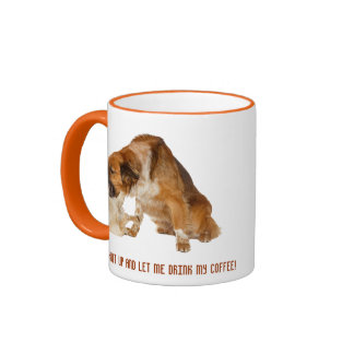 Shut up and let me drink my coffee! ringer mug
