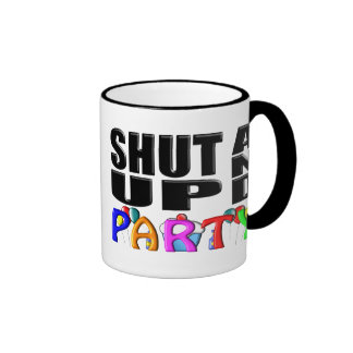SHUT UP AND PARTY Favors Mug