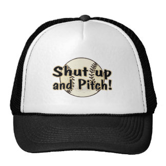 Shut Up And Pitch Mesh Hats