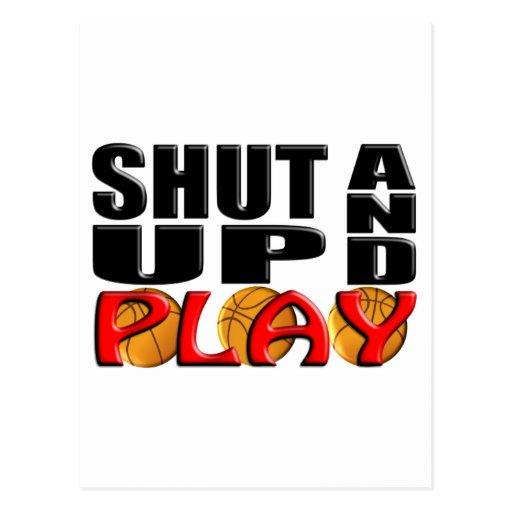 SHUT UP AND PLAY (Basketball) Postcards