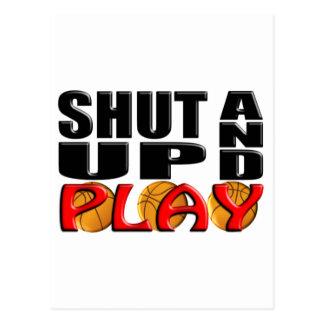SHUT UP AND PLAY Basketball Postcards