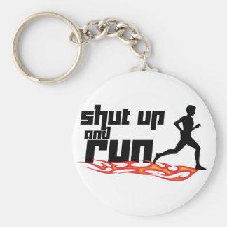 Shut Up and Run Basic Round Button Key Ring