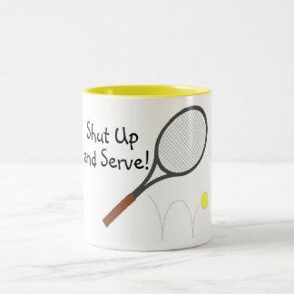 Shut Up And Serve 2 Two-Tone Mug