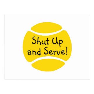 Shut Up And Serve Postcard