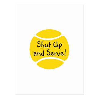 Shut Up And Serve Post Cards