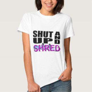 SHUT UP AND SHRED (Snowboarding) Tshirt