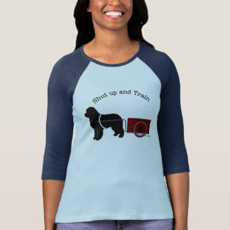 Shut Up and Train Draught   Dog Shirt
