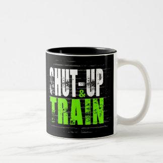 Shut Up And Train Two-Tone Coffee Mug