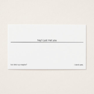 shut-up business card