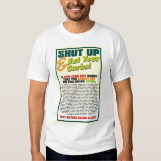 Shut Up & Eat Your Carbs - Combo Shirt #1