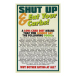Shut Up & Eat Your Carbs poster #1