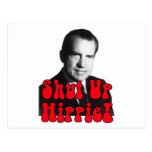 Shut Up Hippie -- Richard Nixon Post Card