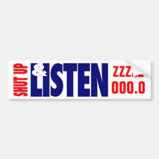Shut Up & Listen Radio Car Bumper Sticker