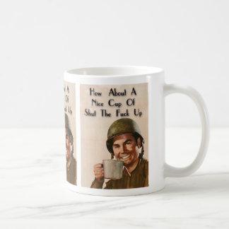Shut yo' mouth coffee mug