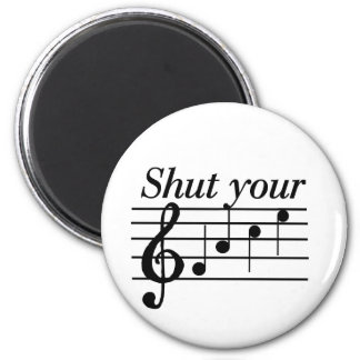 Shut your f-a-c-e T-shirts and Gifts. 6 Cm Round Magnet