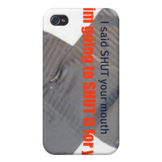 shut your mouth cell phone case iPhone 4/4S cases